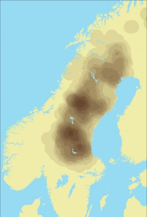 42 Scandinavian population distribution